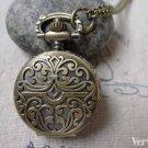 Pocket Watch Flower Watch Round Pendant A6883
