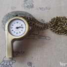 1 Pc of Antique Bronze Whistle Pocket Watch  A4617