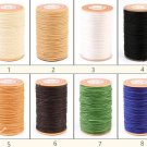 0.5mm Round Wax Polyester Thread Cord For Leather Craft 60 meters 2