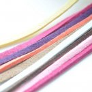 10 meters Square Faux Leather Ribbon Cords Dark Rose