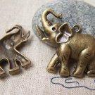 10 pcs Antique Bronze Elephant Charms 26x37mm A1652