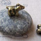 10 pcs Antique Bronze Standing Dog Spacer Beads 12x17mm A5750