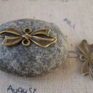 20 pcs Antique Bronze Bow Tie Knot Connector Charms 11x29mm A5434