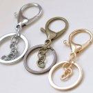 10 pcs Keychain Key Ring Clasps Antique Bronze/Light Gold/Rhodium Antique Bronze A2140