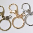 10 pcs Large Keychain Key Ring Clasps Antique Bronze/Light Gold/Rhodium Antique Bronze A3132