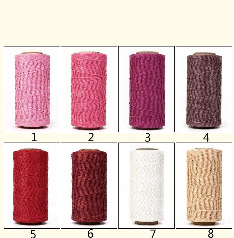 150D Flat Wax Cord Polyester Thread For Leather Craft -240 meters 2