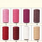 150D Flat Wax Cord Polyester Thread For Leather Craft -240 meters 4