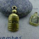 10 pcs Antique Gold Alcohol Wine Bottle Charms Pendants A1368