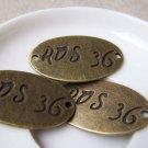 10 pcs of Antique Bronze Oval Connectors 21x35mm