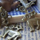 10 pcs Antique Bronze Aries The Ram Constellation Charms 16mm A880