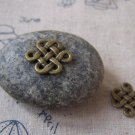 20 pcs Antique Bronze Twisted Chinese Knot Connector Charms A5400