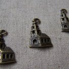 20 pcs of Antique Bronze Lovely Church Building Charms 14x22mm A1656