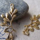 Gold Tree Branch Connectors Charms 16x38mm Set of 10 A988