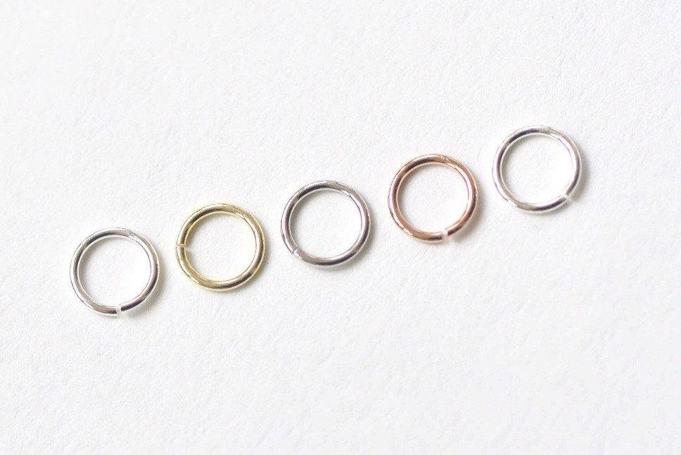 20 pcs 925 Sterling Silver Open Jump Rings 3mm/3.5mm/4mm/5mm 24G 4mm / Rose Gold