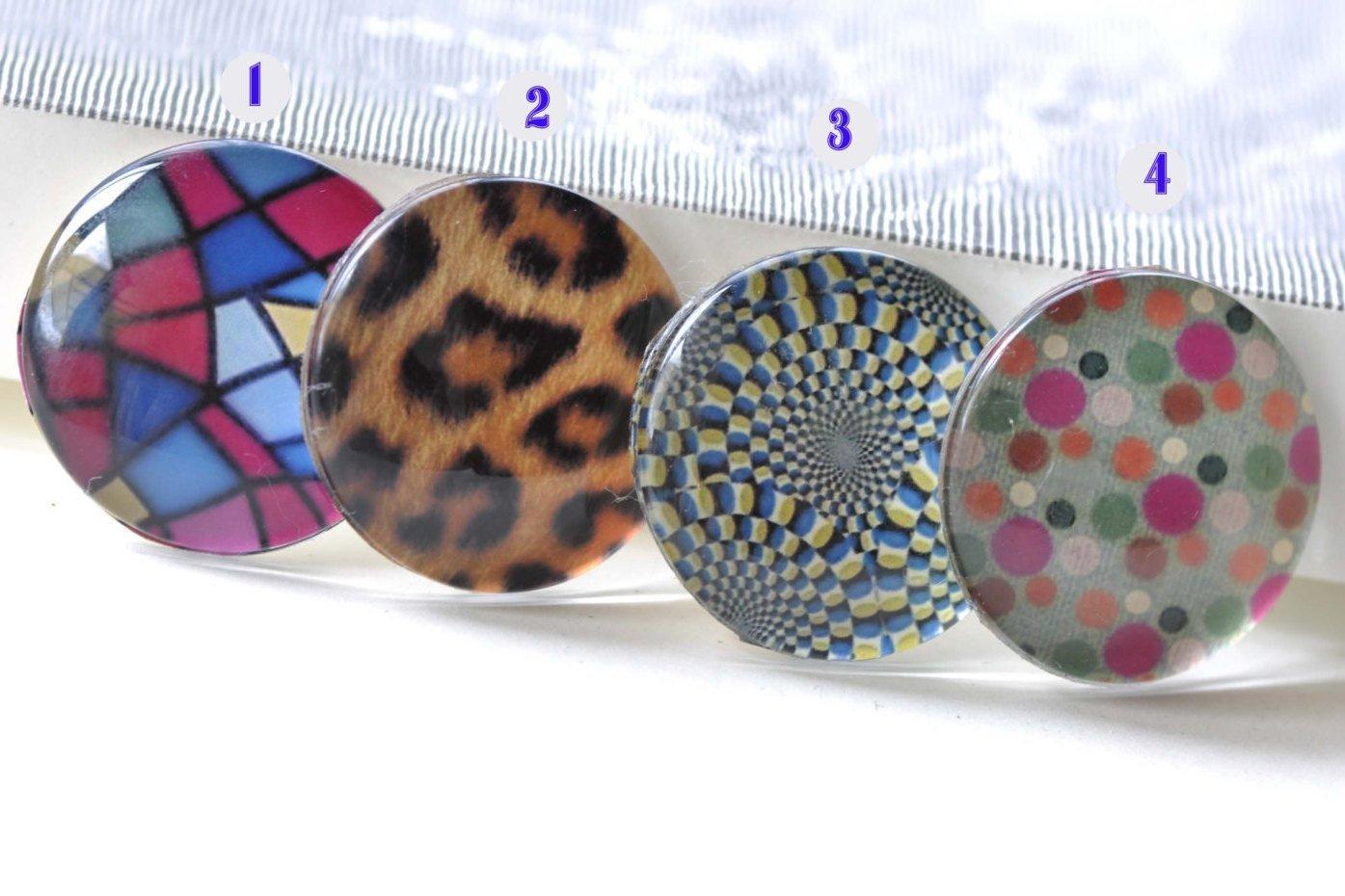 Abstract Geometric Pattern Photo Glass Cabochon Dome Cameo 25mm 5 pcs No.3  A8194