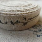 Little Birds Life Is Beautiful Print Linen Ribbon Label String A5559