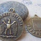 4 pcs Antique Bronze Eagle Badge Round Pendant Charms A4808