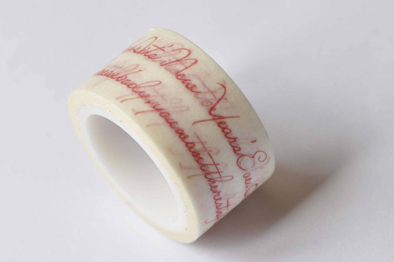Beautiful Handwriting Masking Washi Tape 20mm x 5M A12626