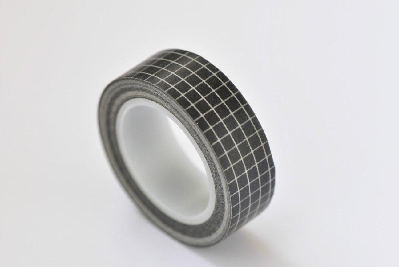 Black Pattern Washi Tape Self-adhesive Tape 15mm x 10M Roll A12119