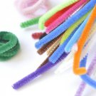 Chenille Stems Pipe Cleaner Tinsel Stems Wired Sticks Set of 6 32