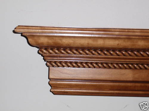 "Custom Oak Fireplace Mantel (Mantle)-60"" Wide-Free Finishing"