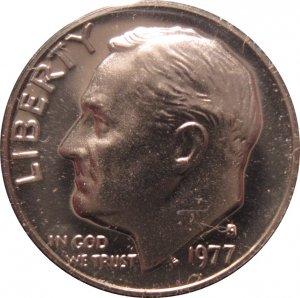 1977 S Proof Roosevelt