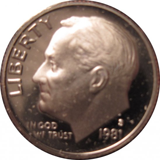 1981 S Proof Roosevelt