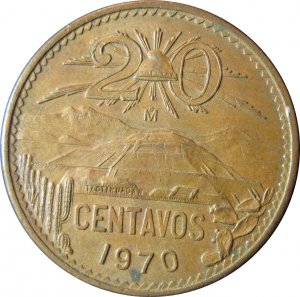 1970 20 Centavos