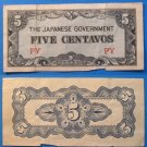JAPANESE GOVERNMENT BANKNOTE Five Centavos