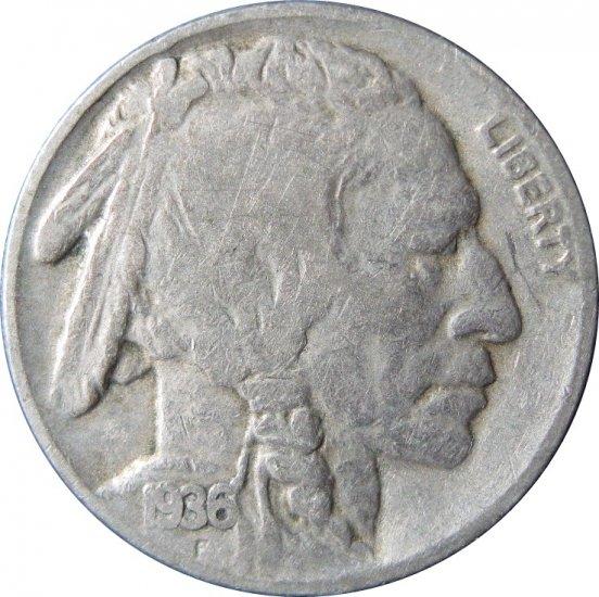 1936 D Buffalo Nickel