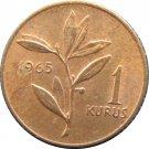 Turkey 1965 1 Kurus #1