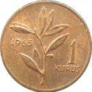 Turkey 1965 1 Kurus #2
