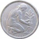 1950 D Germany 50 Pfennig
