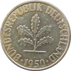 1950 D Germany 10 Pfennig #2