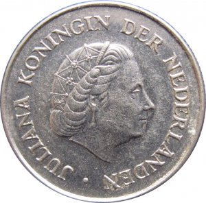1970 Netherlands 25 Cents