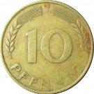 1949 J Germany 10 Pfennig