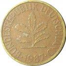 1987 D Germany 10 Pfennig