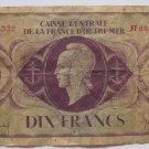 1944 France  Dix Francs
