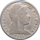 1935 Colombia 5 Centavo #2 error with CLIP