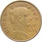 1959 Mexico 5 Centavos