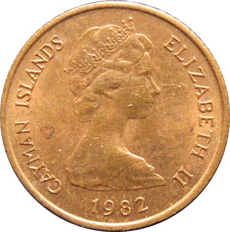1982 Cayman Islands 1 Cent