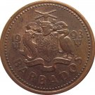 1993 Barbados 1 Cent