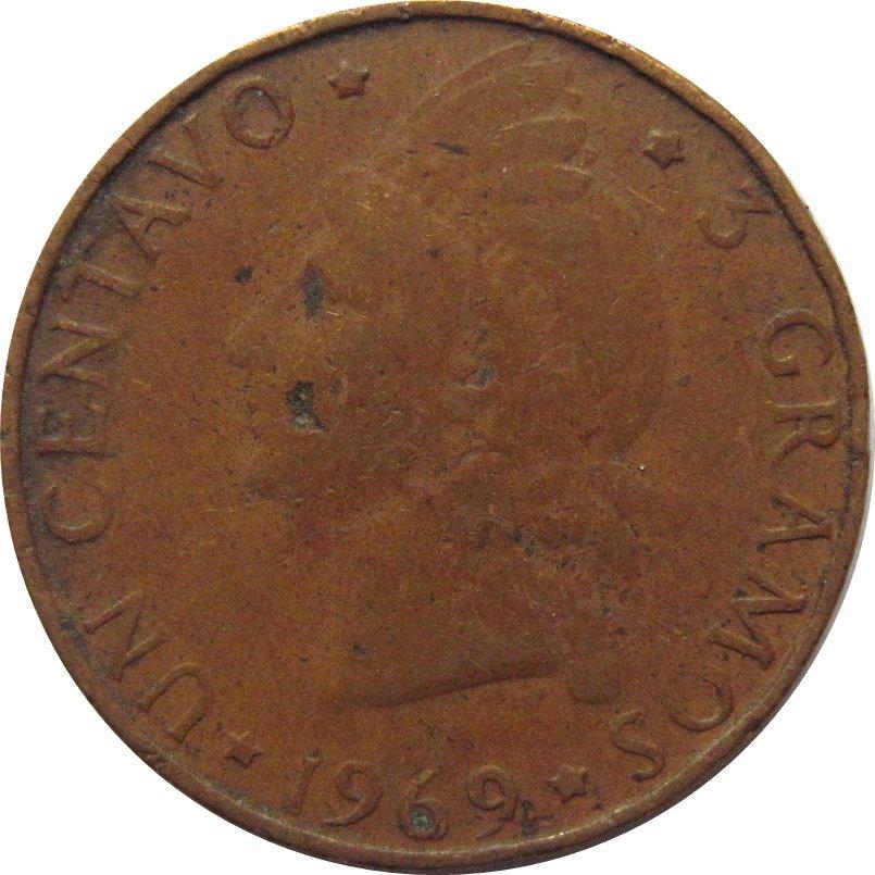 1969 Dominican Republic 1 Centavo