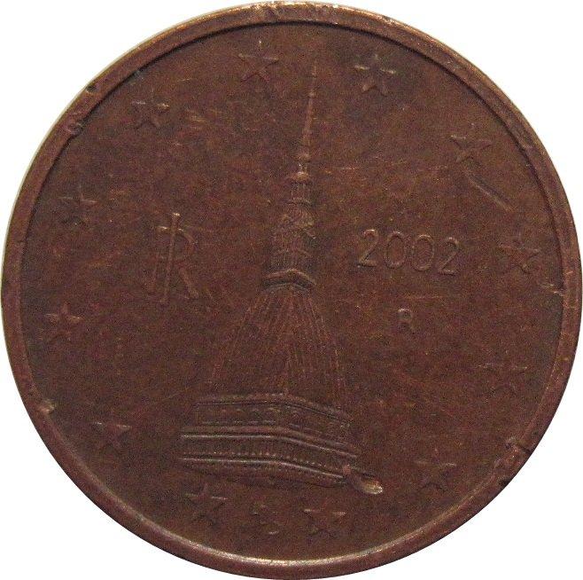 2002 R  Italy 2 Cent Euro #2