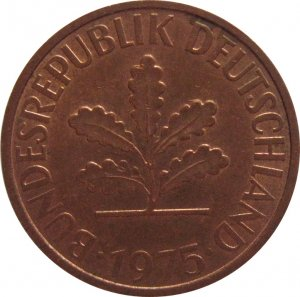 1975 F Germany 2 Pfennig