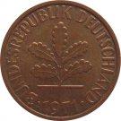 1971 D Germany 2 Pfennig