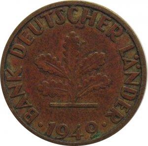1949 D Germany 5 Pfennig