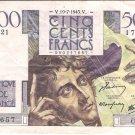 1945 France 500 Francs (17657)