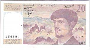 1987 20 Franc (456690)