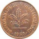 1950 J Germany 1 Pfennig